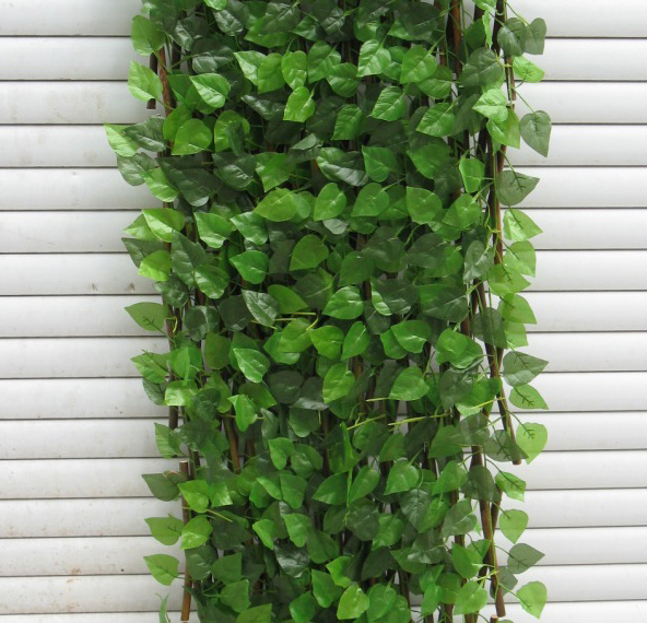 artificial-Vine-fence-with-wood-backing