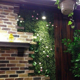 faux-hedging-for-interior-wall-covering-in-hotel