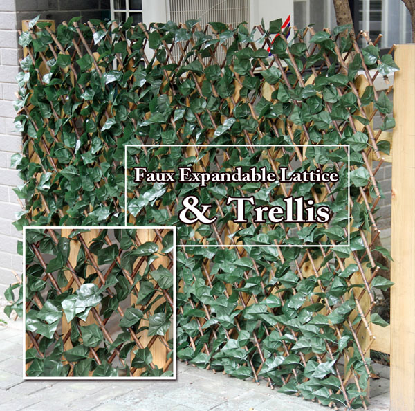 faux leaf expandable trellis lattice sunwing artificial hedge