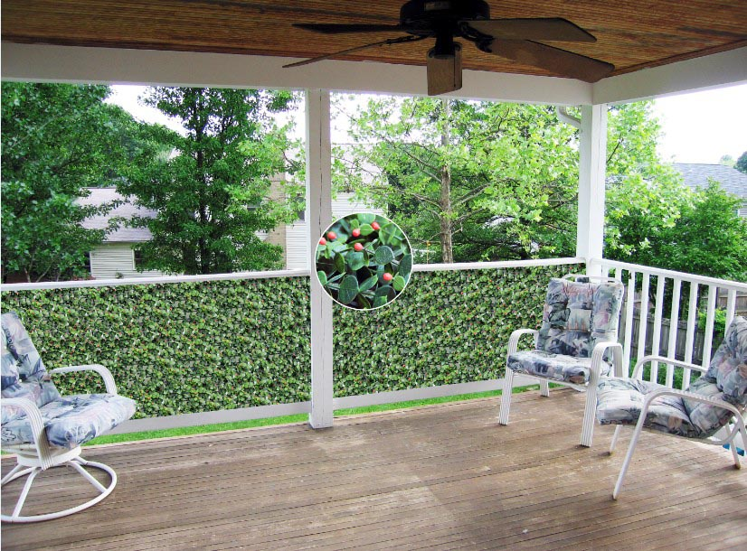 great tips to make your deck more private  artificial hedges are for you