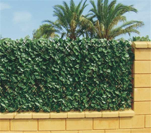 Artificial Hedges for fence screening, UV protected