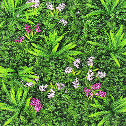 Artificial Landscape Leaves Hedge A048