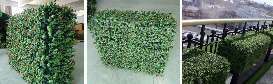 artificial box hedge, artificial furnishing fence