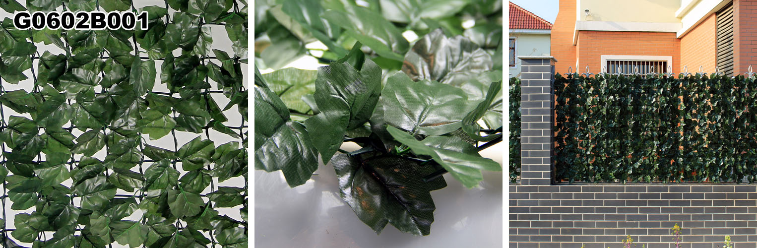 Artificial Leaves Fence: one beautiful Artificial Hedge