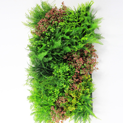 artificial green wall plantings