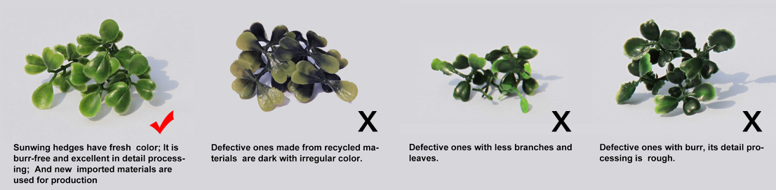 difference between good artificial hedges and defective hedges