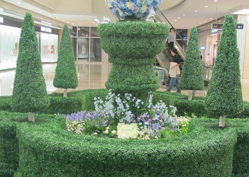 artificial-plant hedges-for-landscaping-project