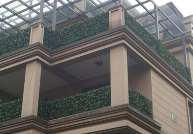 Artificial hedges for privacy protection and decor in balcony