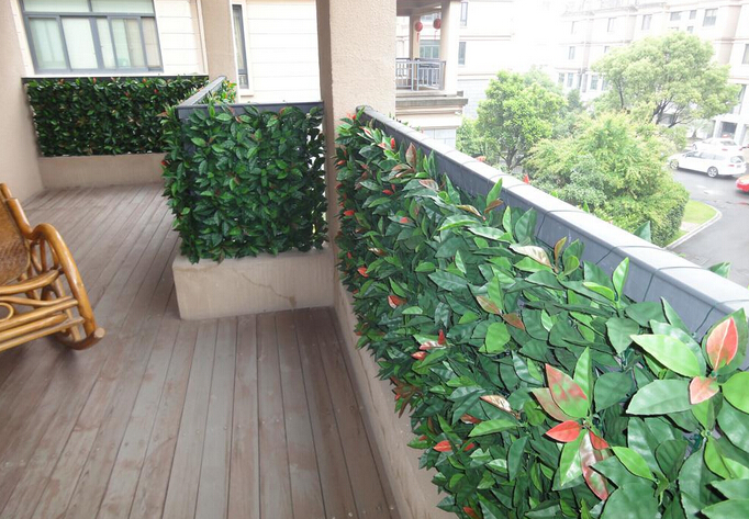 Artificial hedges for privacy protection and decor in balcony5