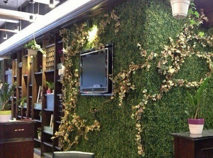 Artificial plant hedges for green wall