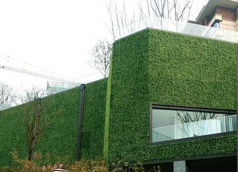 Artificial plant hedges for green wall-exterior wall