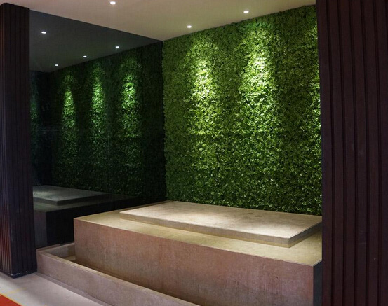 Artificial plant hedges for green wall-interior wall decor