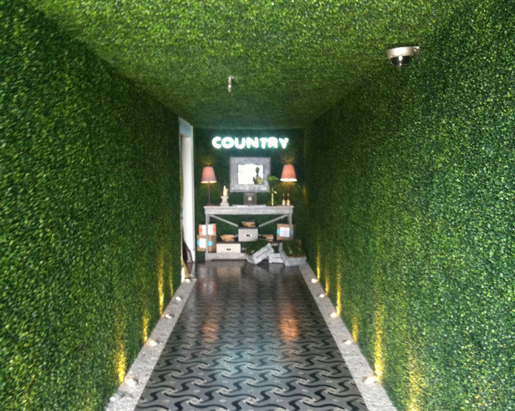 Artificial plant hedges for green wall-interior wall in KTV MUSIC BAR