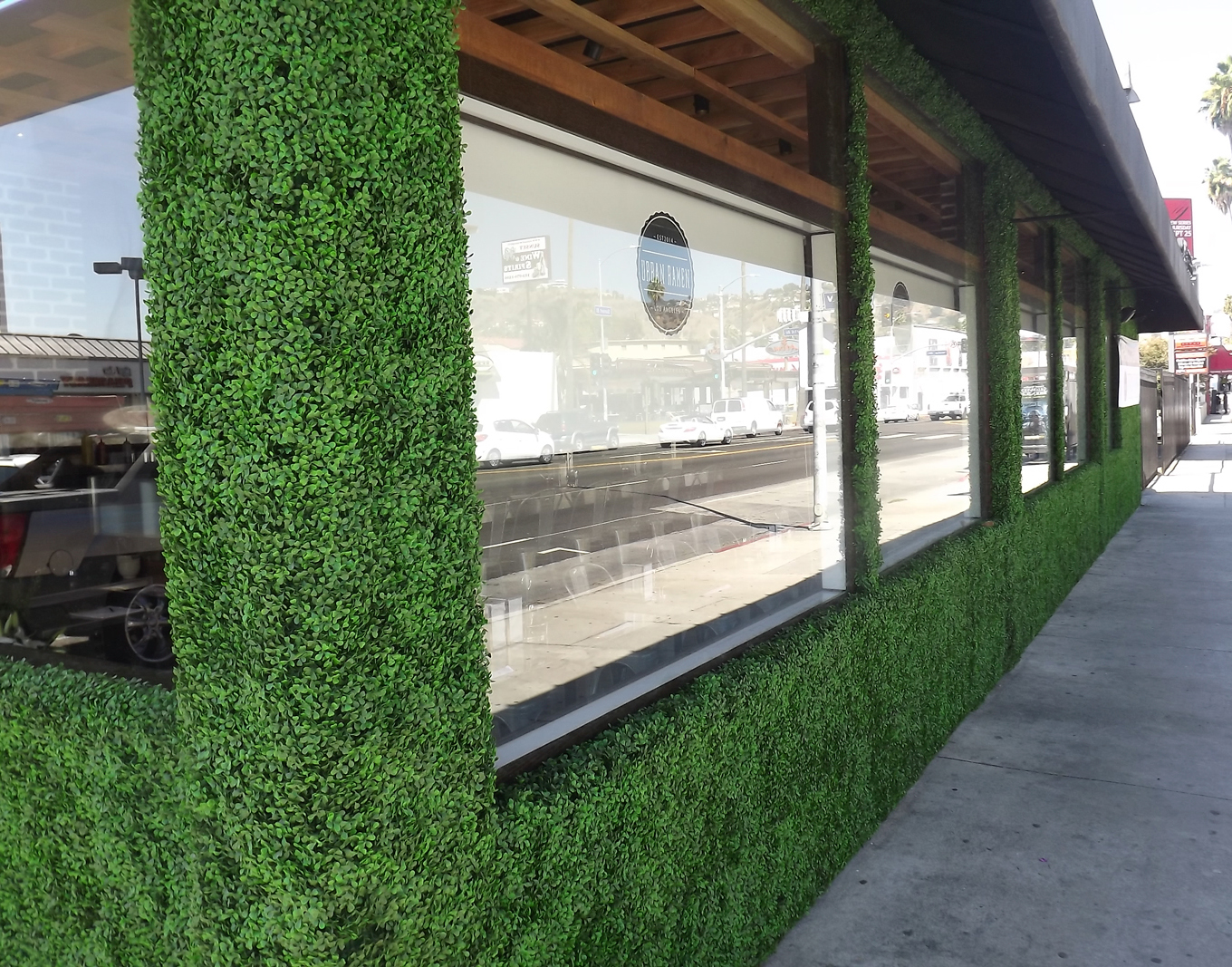 artificial hedges for green wall