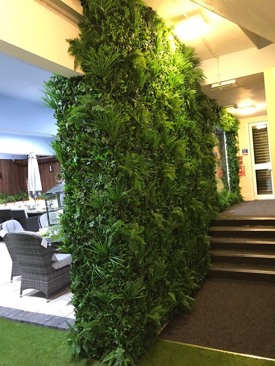 Artificial plants for interior wall design