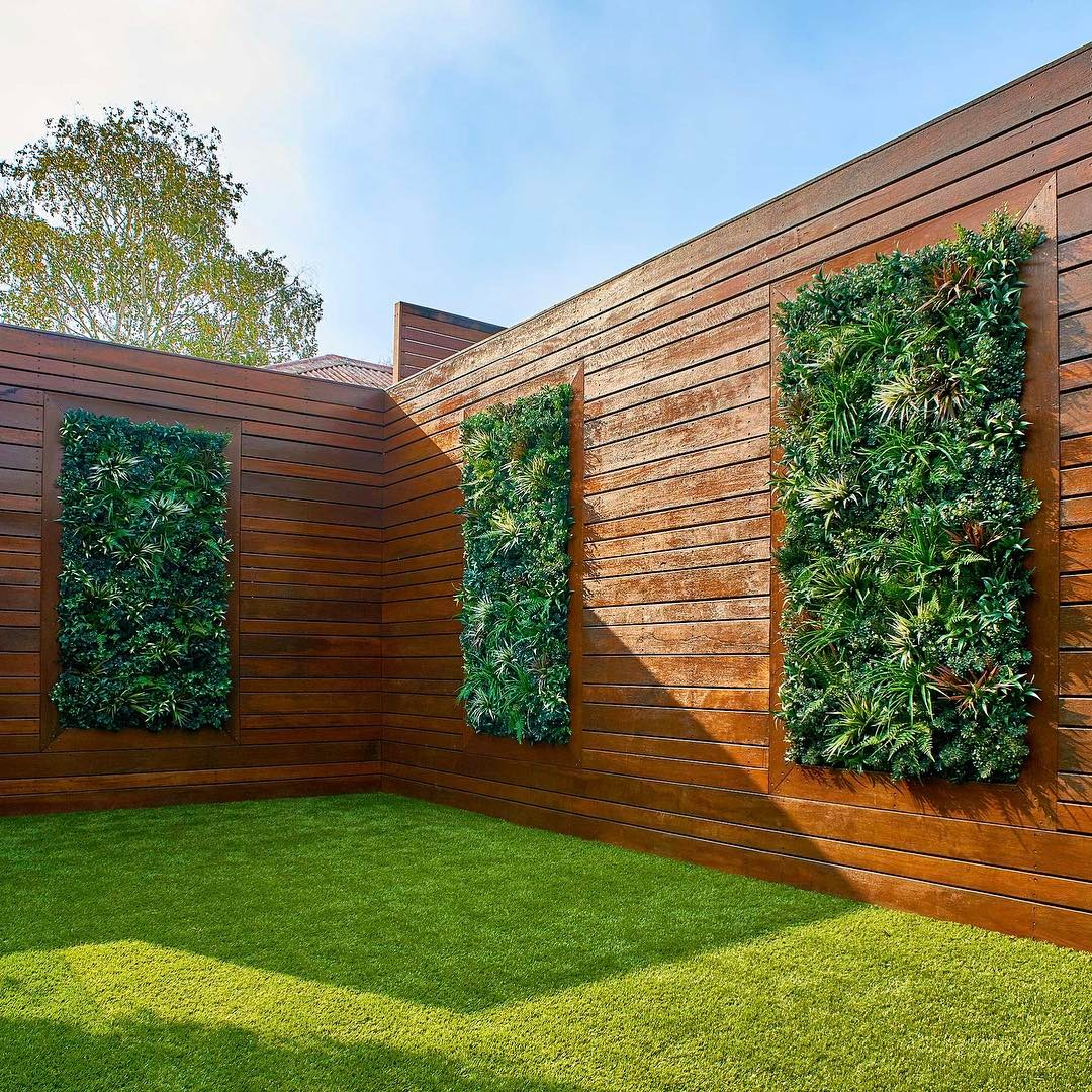 ... Artificial Plants Wall For Backyard Landscape ...