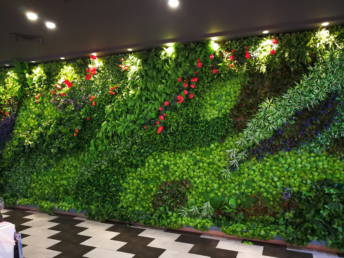 Artificial plants wall for lobby landscape