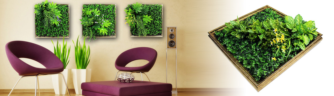 Artificial plants frame wall,Art 3D artificial plant for home decor