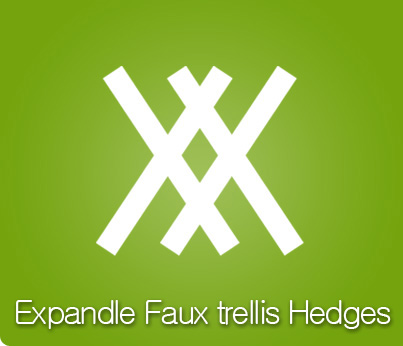 Faux hedges Rolls & Trellis
