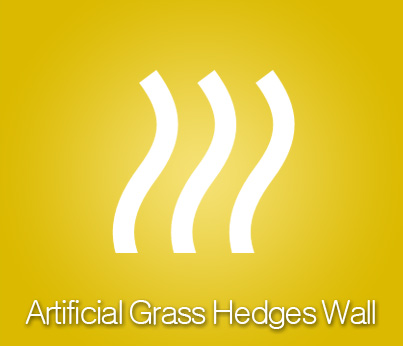 Artificial Grass Hedges Wall