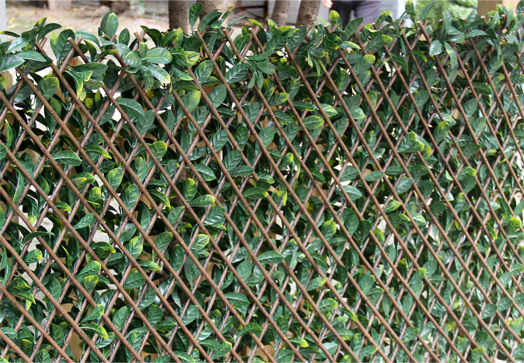 Expandable Trellis Amp Lattice Hedges Faux Ivy Leaves